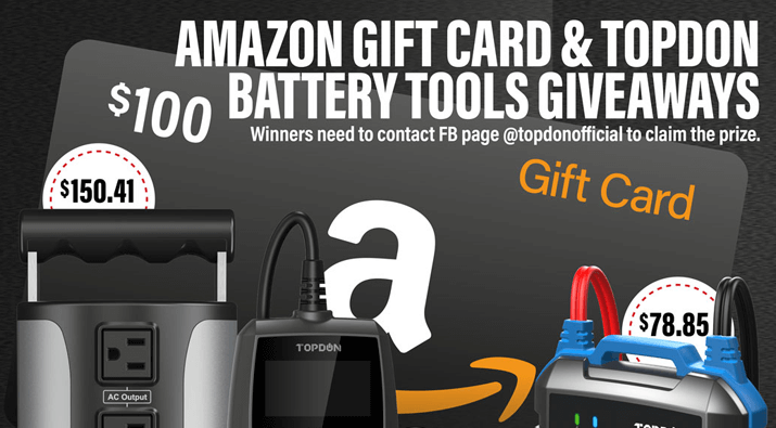 $100 Amazon Gift Card + Battery Tools Giveaway