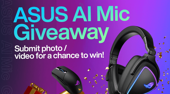 ASUS AI Noise Canceling Mic Giveaway