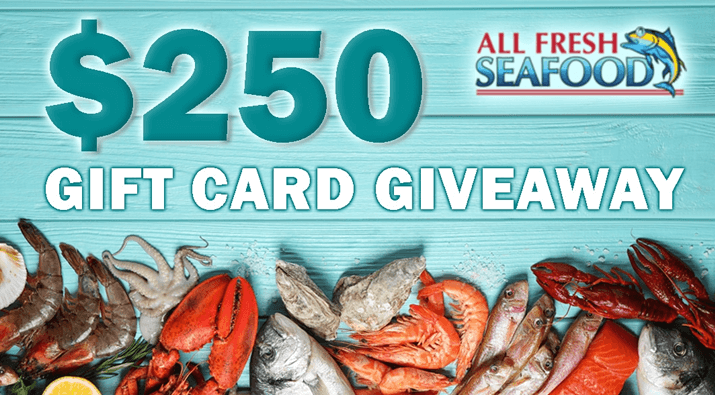 $250 All Fresh Seafood Gift Card Giveaway
