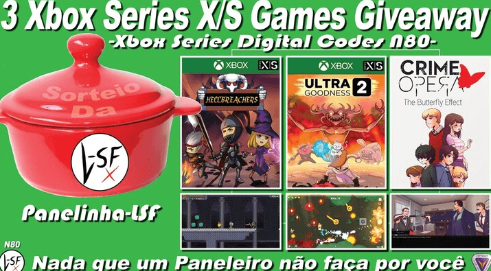 3 Xbox Series S/X Games Giveaway