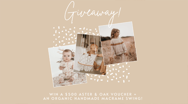 Handmade Baby Swing + Clothing Giveaway