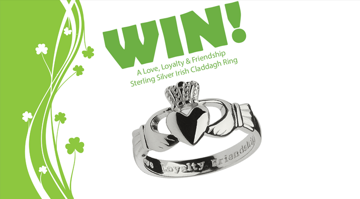 Sterling Silver Irish Claddagh Ring Giveaway