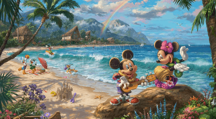 Mickey and Minnie in Hawaii Canvases Giveaway