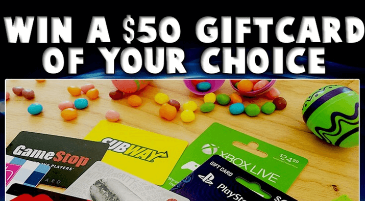 $50 Your Choice of Gift Card Giveaway
