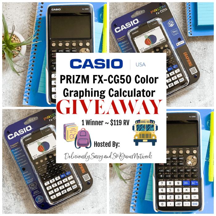CASIO PRIZM FX-CG50 Color Graphing Calculator Giveaway