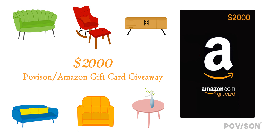 $2000 Amazon Gift Card or Povison Gift Card Giveaway