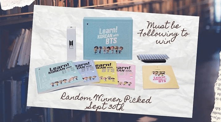 Learn Korean with BTS Giveaway